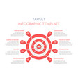 target with eight arrows vector image vector image