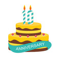 template 10 years anniversary congratulations vector image vector image