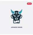 two color japanese demon icon from other concept vector image vector image