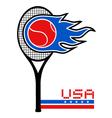 USA tennis vector image vector image