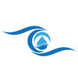 water waves logo icon concept vector image vector image
