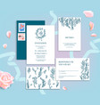 wedding stationery ornamental vector image