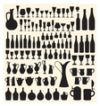 Wineware silhouettes vector image vector image