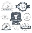 work tools set label template of emblem element vector image