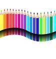 Color pencils vector image