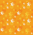 3d festive stars seamless pattern vector image