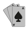 ace of spades cards icon image vector image vector image