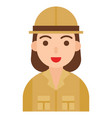archaeologist icon profession and job vector image vector image