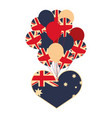 australia flag shaped heart and balloons vector image
