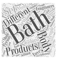 bath and body Word Cloud Concept vector image vector image