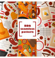 bbq seamless pattern grilled vector image