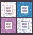 best dairy product seamless patterns set vector image