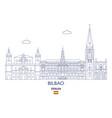 bilbao city skyline vector image vector image