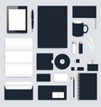 Black blank set of corporate identity vector image vector image