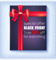 black friday sale special offer 50 percent off vector image vector image