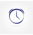 Blue clock with simple lines vector image