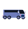 bus transportation isolated icon vector image