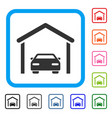 car garage framed icon vector image vector image