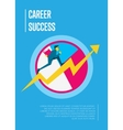 Career success banner with businessman vector image