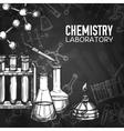 Chemistry Laboratory Chalkboard Background vector image