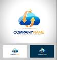Cloud Storage Logo vector image vector image