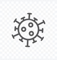 corona virus icon isolated on transparent vector image vector image