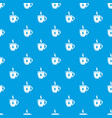 cup tea pattern seamless blue vector image vector image