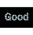 Diamond word good vector image vector image
