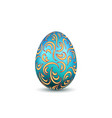 easter egg 3d icon ornate color egg isolated vector image vector image