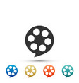 film reel icon isolated on white background vector image vector image