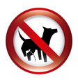 forbidden dog design vector image