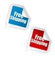 free shipping sticker vector image