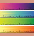 fukuoka multiple color gradient skyline banner vector image vector image