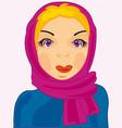girl in kerchief vector image vector image