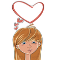 Girl with love on her mind vector image