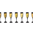 gold foil champagne flutes seamless pattern vector image vector image