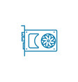 graphic adapter linear icon concept graphic vector image