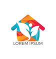 green home energy protection logo design vector image vector image