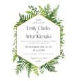 Greenery wedding floral invitation card design