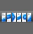 halftone roll up banner design templates set vector image