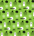 halloween ghosts pattern vector image vector image