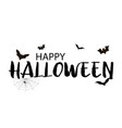 happy halloween background with handwritten vector image