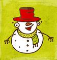 Happy Snowman Cartoon vector image vector image