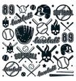 icon and badge set baseball and softball vector image vector image