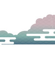 japanese background with cloud decoration vector image vector image
