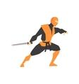 Japanese Ninja With Katana Sword Martial Arts vector image vector image