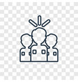 leader concept linear icon isolated on vector image