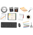 mega office supplies set vector image vector image