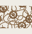 nautical seamless pattern with ship steering vector image