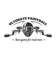paintball club logo template pint ball gun vector image